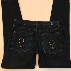 7 FAM Find Straight Leg Dark Wash Jeans Size 27